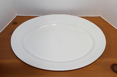 "Elsmore Foster Parisian England Thick White Ironstone China 18"" Oval Platter"