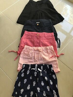 5 X Girls Shorts Size 5 And 6. Milkshake And Others. Excellent Condition!