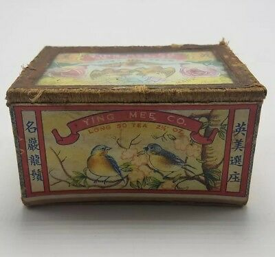 Vintage Long So Tea (Ying Mee Co.) Chinese Tea Box Caddy