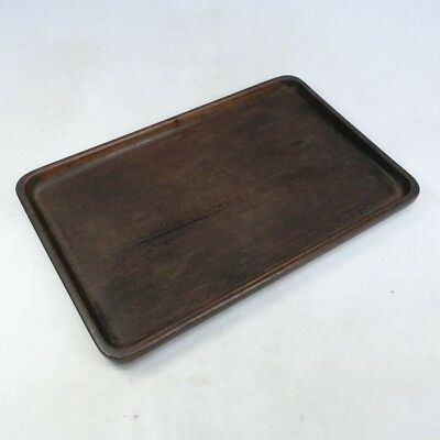 F013: Popular Japanese KARAKI wooden tray made from one wood without joint