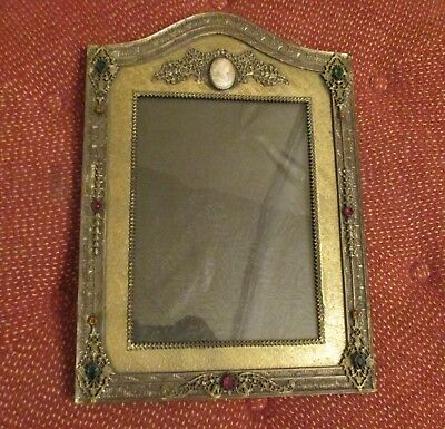 """Vintage Jeweled Picture Frame - 11"""" x 8"""""""