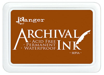 Archival Ink Stamp Pad Sepia