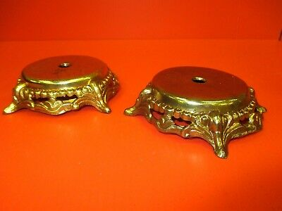 2 ~ Vintage Brass Stands Holders - FREE US SHIPPING
