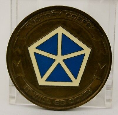 V Victory Corps Retention SGM Challenge Coin
