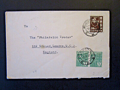 Lithuania 1937 Cover to London - Z5382