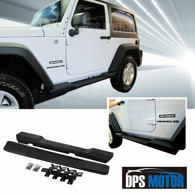 Factory Style ABS Running Board Side Step Nerf Bar For 07-17 Jeep wrangler JK 2D