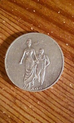 Vintage Funny Head or Tails Flip Coin Man Pinching a Womans Behind