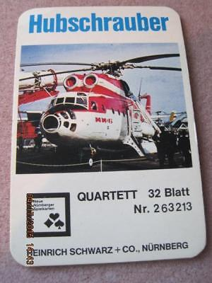 HUBSCHRAUBER 32 Blatt German Cards of Various Helicopters Complete Very Good