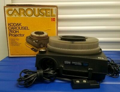 Kodak  Slide Projector 760H with Carousel TESTED Perfect
