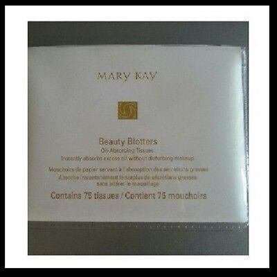 Mary Kay BEAUTY BLOTTERS OIL-ABSORBING TISSUES 75 Count, Sealed New in Pkg