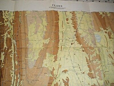 Sa Govt Dept Of Mines  1 250,000 Geological Map Clare South Australia 1964