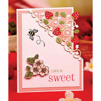 Strawberry Metal Cutting Dies Stencil Scrapbooking Paper Card Embossing CraftHC