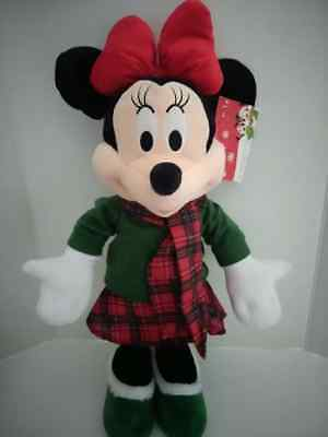Minnie Mouse Christmas/holiday Greeter 24 Inches Tall Disney Nwt