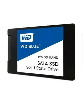 """WD Blue 3D NAND 1TB PC SSD - SATA III 6 Gb/s 2.5""""/7mm Solid State"""