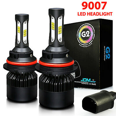 9007 HB5 72W LED Headlight Conversion Kit 8000LM High Low Beam Bulbs 6500K White