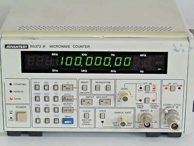 Advantest R5373P Microwave Frequency Counter Frequenzzähler 10mHz - 27GHz