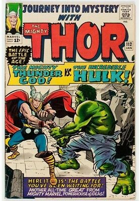 Journey Into Mystery #112 (Marvel, 1965) Condition: fine plus. Hulk vs. Thor.