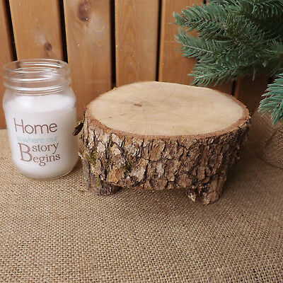 Small Rustic Wooden Log Table Christmas Wedding Centrepiece Home Decoration