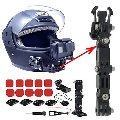 1 Set Full Face Helmet Front Chin Mount for Gopro Hero 6 5 4 3 Action Camera