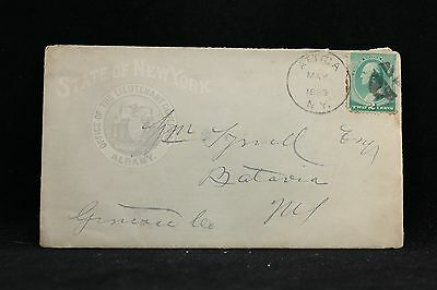 New York: Attica 1889 State of New York Lieutenant Governor Advertising Cover