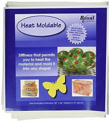 "Bosal Heat Moldable Double-Sided Fusible Plus 20"" x 36"" Fabric Bowls/Boxes Craft"