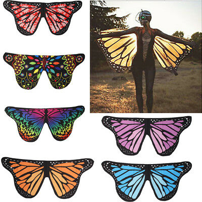 Soft Fabric Butterfly Wings Shawl Fairy Ladies Bikini Cover Up Costume Accessory