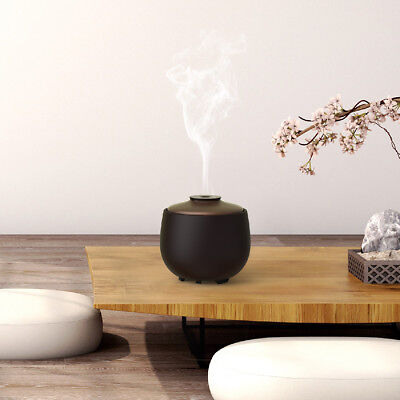 Excelvan 240ml Ceramic Aroma Diffuser 7 LED Lights-Essential Oil Humidifier