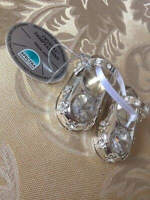 Silver Plated Crystal Temptations, Christianing Baby Shoes