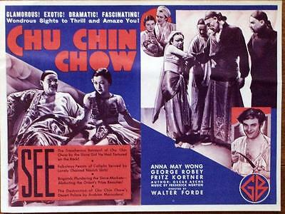 Anna May Wong Chu Chin Chow Original Gaumont British Us Movie Herald