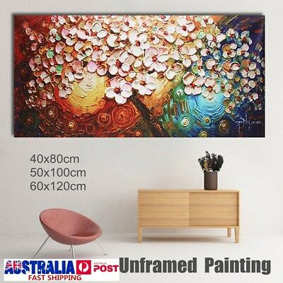 Large Flower Tree Hand-Painted Canvas Abstract Paintings Art Wall Decor Unframed
