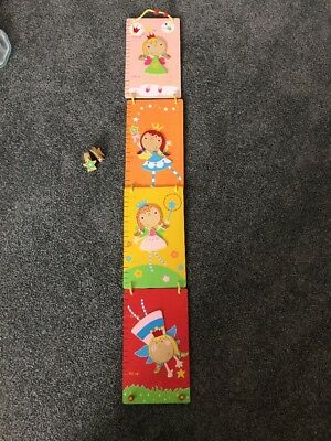 Fairy Princess Height Chart For Wall Girl Wood