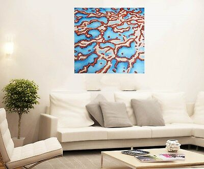 40cm framed blue seascape barrier reef  art Print  canvas painting jane crawford