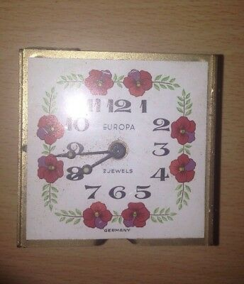Spares Or Repair - VINTAGE CLOCK - EUROPA - ALARM TRAVEL - 2 JEWELS