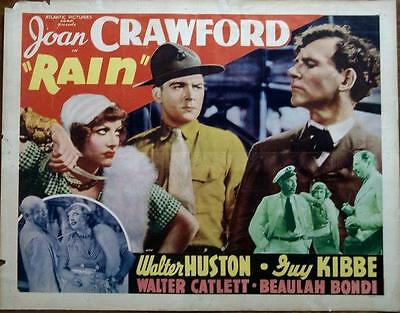 Joan Crawford Is Sadie Thompson In Rain Original Us Half Sheet Poster