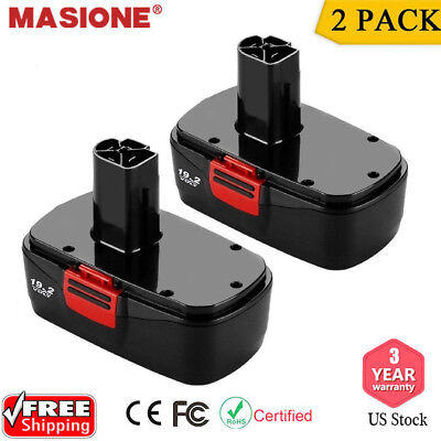 2Pack 19.2V Battery Replacement for Craftsman 19.2 Volt C3 11376 11375 130279005