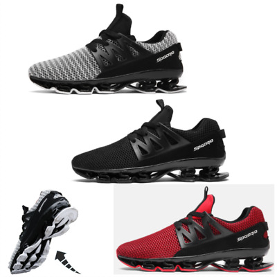 Mens Running Trainers Lace Up Flat Comfy Fitness Gym Sports Shoes Size  UK STOCK
