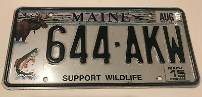 MAINE - Support Wildlife Moose Rainbow Trout Fish State Issued License Plate