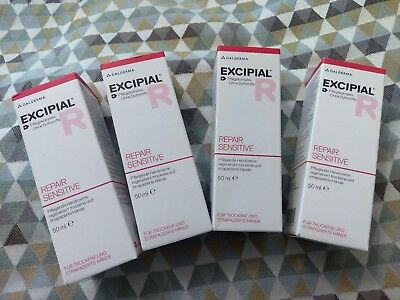 EXCIPIAL Repair Sensitive Pflege- /Handcreme, 4x50ml, PZN 4853573, GALDERMA *neu