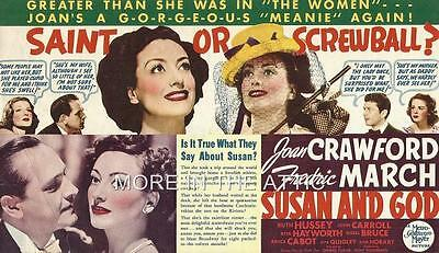 Joan Crawford Fredric March Rita Hayworth Susan And God Orig Mgm Herald
