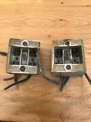 vintage very old electric fuse box x2 house clearance interesting unique  collect - �9 99 | picclick uk