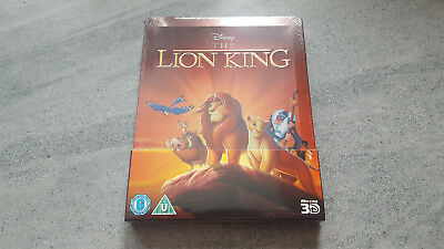 Disney's The Lion King 3D UK Blu-Ray SteelBook BRAND NEW & FACTORY SEALED RARE