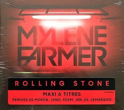 Cd Maxi 6 Titres Mylene Farmer Rolling Stone Limited Edition Neuf Sous Blister