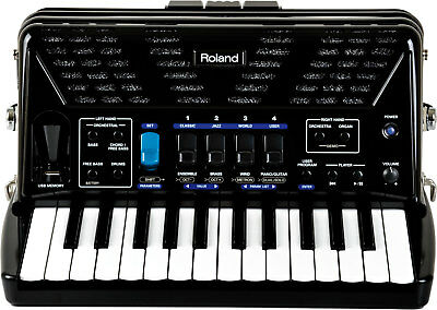 Roland FR-1X Piano-Type V-Accordion, Black. Comes with professional bag.