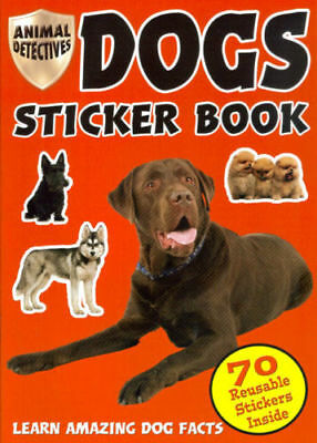 Animal Detectives Dogs STICKER BOOK - BRAND NEW over 70 Reusable Stickers