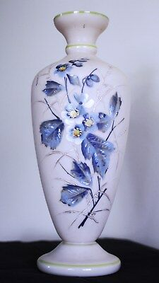 Victorian Painted Glass Vase