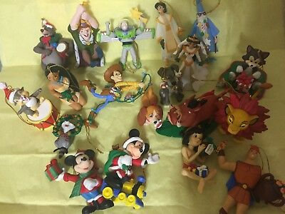 Lot of 19 Disney Christmas Ornaments Thumper Buzz Woody Lion King Mickey ++++