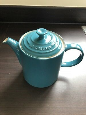 Le Crueset Teal ~Tea pot NO RESERVE