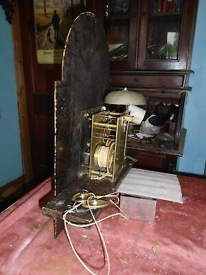 longcase clock movement antique brass goodcondition
