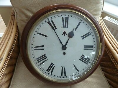 antique wall clock fusee (ex woolich arsenal)1918   15 inch dial