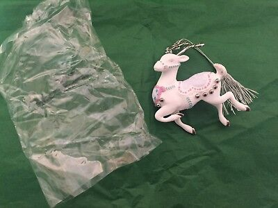 Lenox Platinum Reindeer Collectible Christmas Ornament